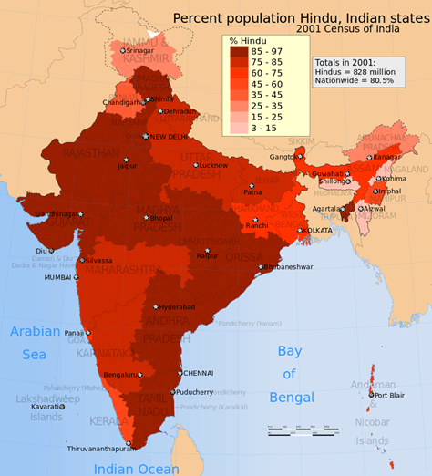 Census India Religion Distribution Map