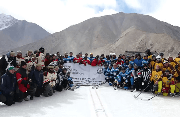 Guinness World Record Attempted for Playing Ice Hockey