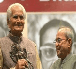 Image shows the President of India and Dr.Raghuveer Chaudhari