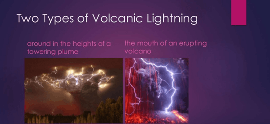 Image of Two Types of Volcanic Lightning