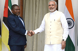 Image of India's Prime Minister and Mozambique's President