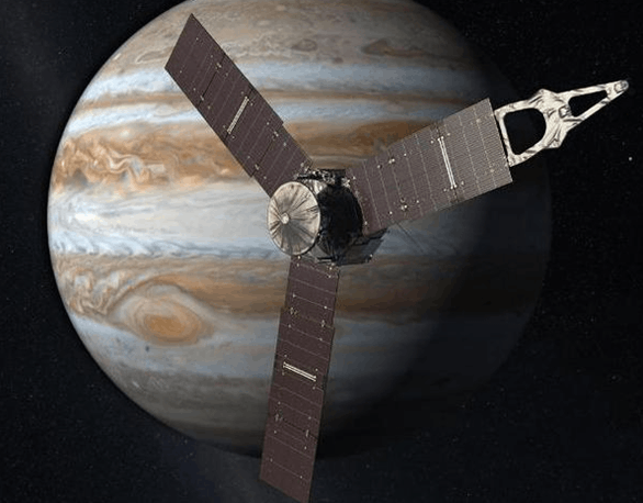 Image shows the Juno spacecraft