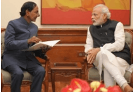 Telangana state Chief Minister and India's Prime Minister