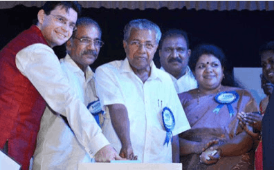 Image shows the Kerala Government launched Water Metro project