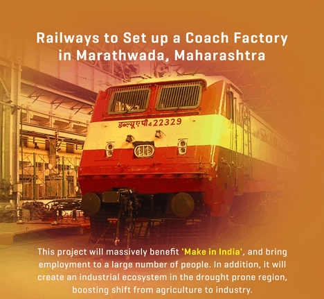 Image of Railways to set up a coach factory in marathwada
