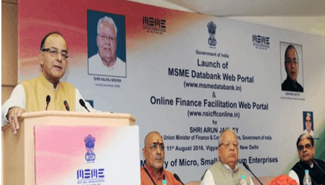 Arun Jaitley launched a web portal for MSMEs