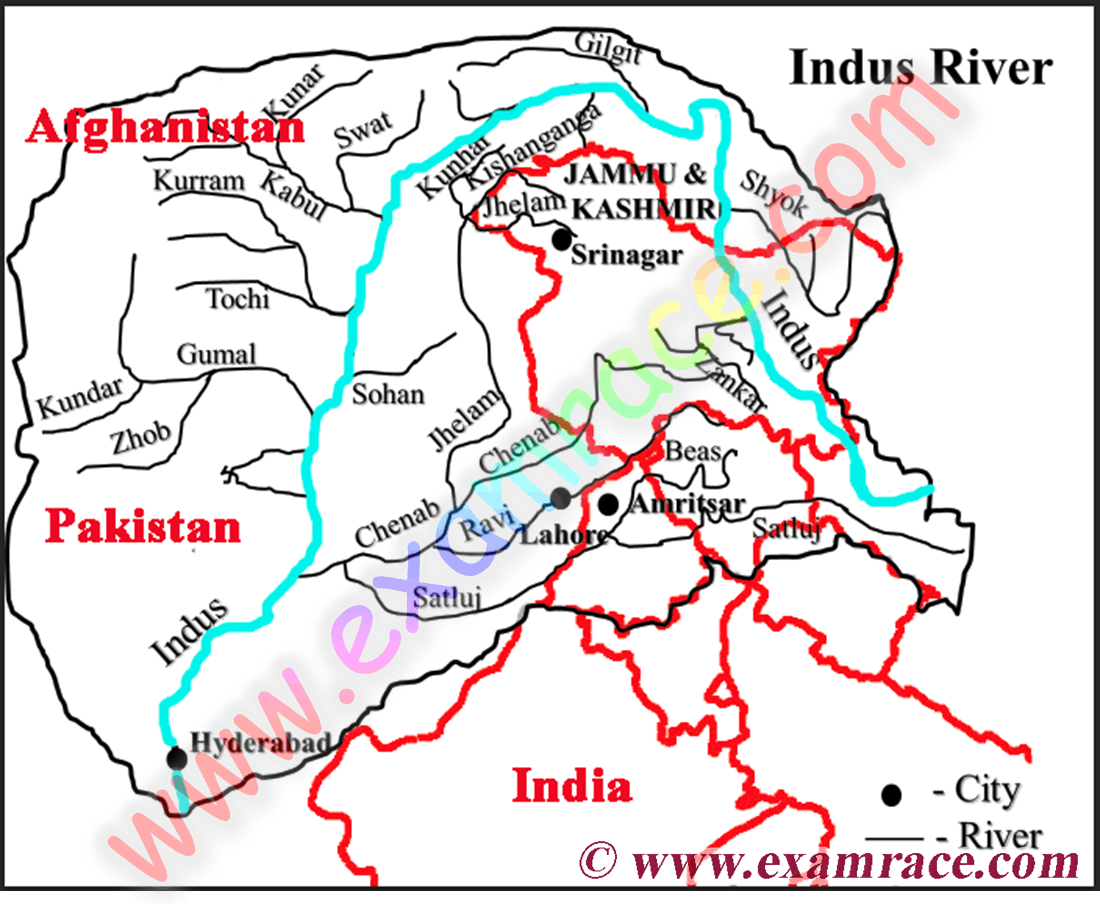 Location of Indus River