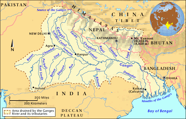 Map of 'Ganga Gram' project