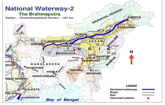Map of national waterway 2
