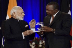 Image of Indian Prime Minister and Kenya President