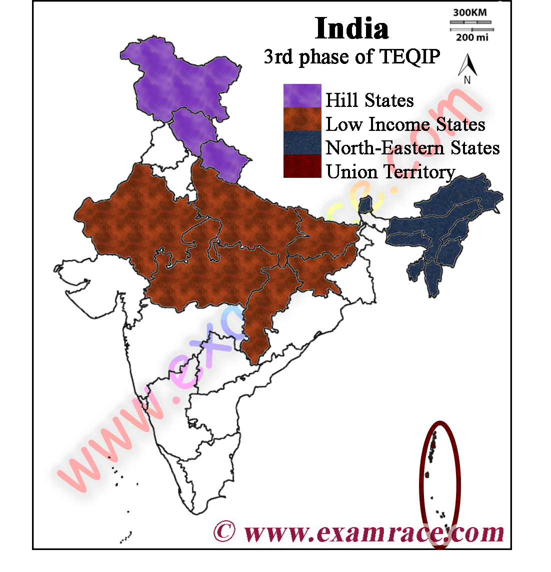 Location of 3rd phase of TEQIP