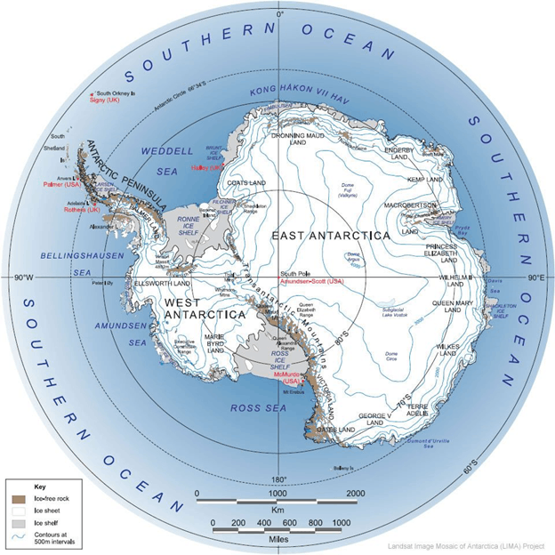 Image of Landsat Mosaic of Antarctica (LIMA) Project
