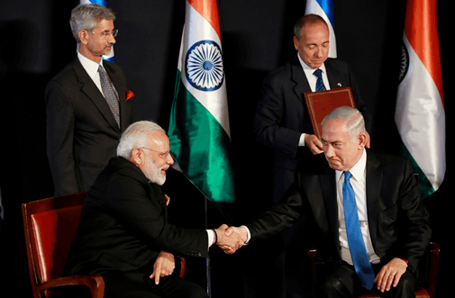 Image of PM India & PM Israel
