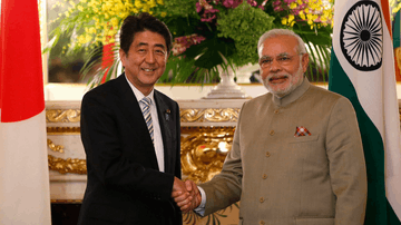 Image of Japan's President and India's Prime Minister