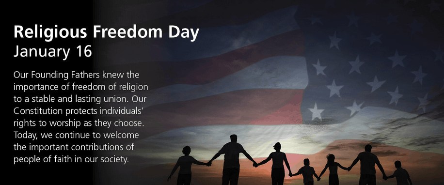 Religious Freedom Day - January 16th