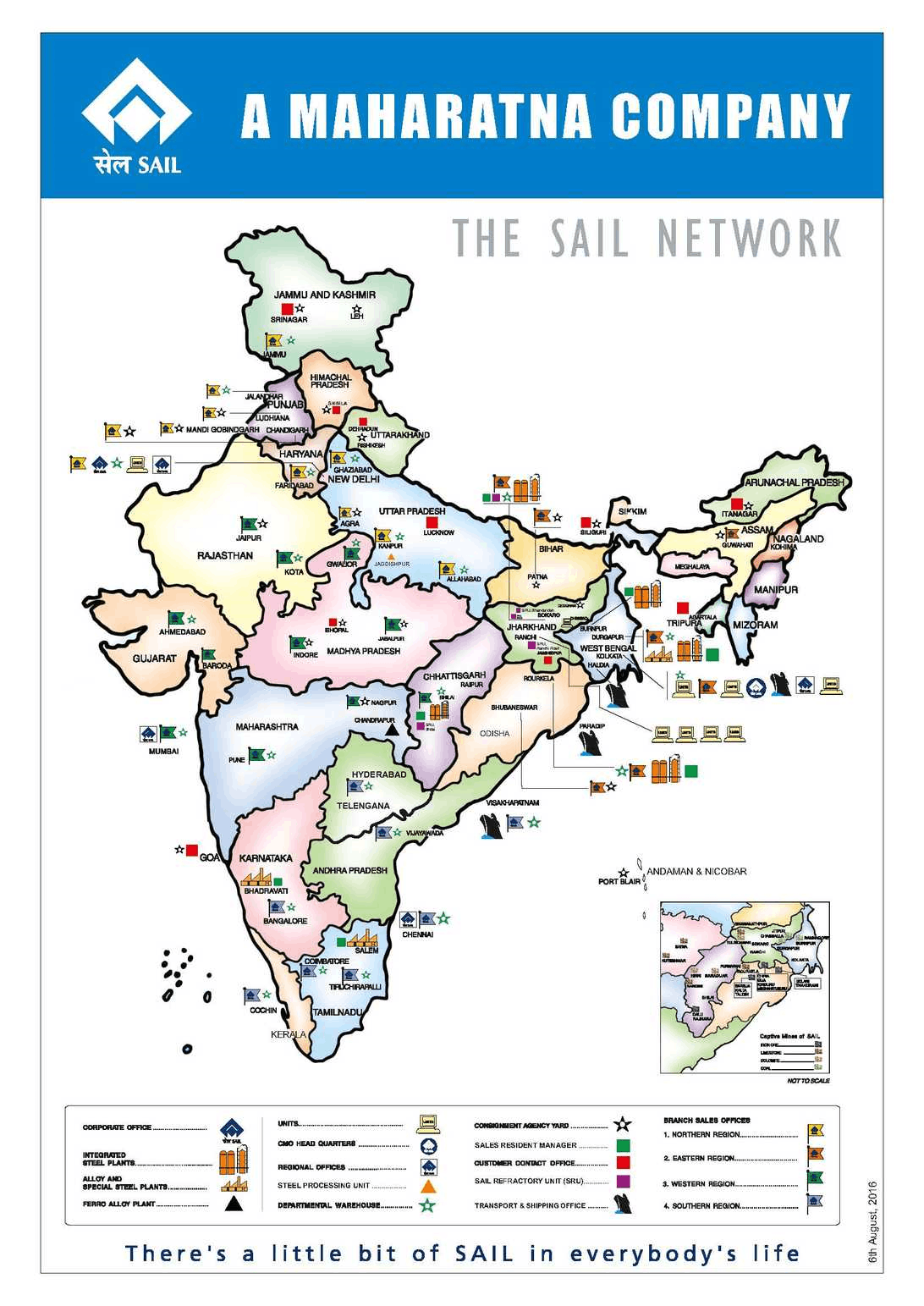 Map of A Maharatna Company(The Sail Network)