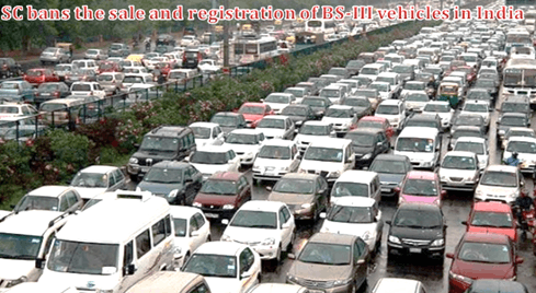 SC bans sale, registration of BS-III vehicles