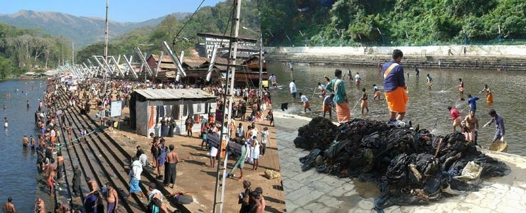 Image of Cleaning of sabrimala temple