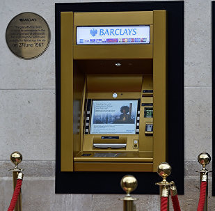 Image of the world first ATM