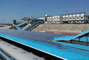 Image shows the Solar Panels in Railway