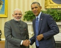 Indian PM Narendra Modi at USA with Barack Obama