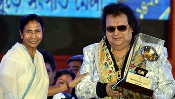 CM Mamata Banerjee given the Mahanayak award to Bapi Lahiri