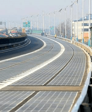 Image of Photovoltaic Road In China