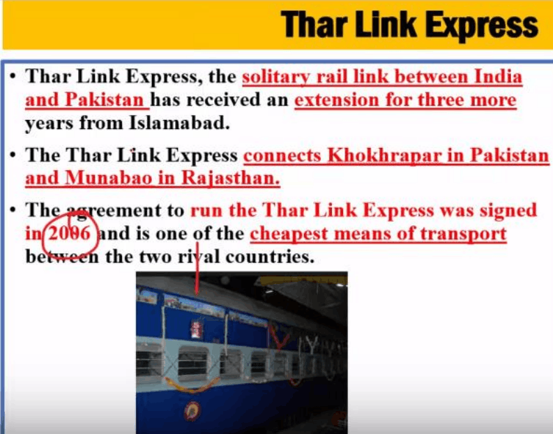 Image shows of Thar Link Express Suspended