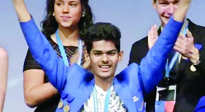 Image of Indian boy Wins Intel Internationl Award in US