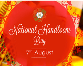 Image shows the National Handloom Day