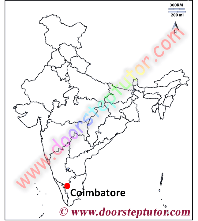 Image shows of Coimbatore district of Tamil Nadu