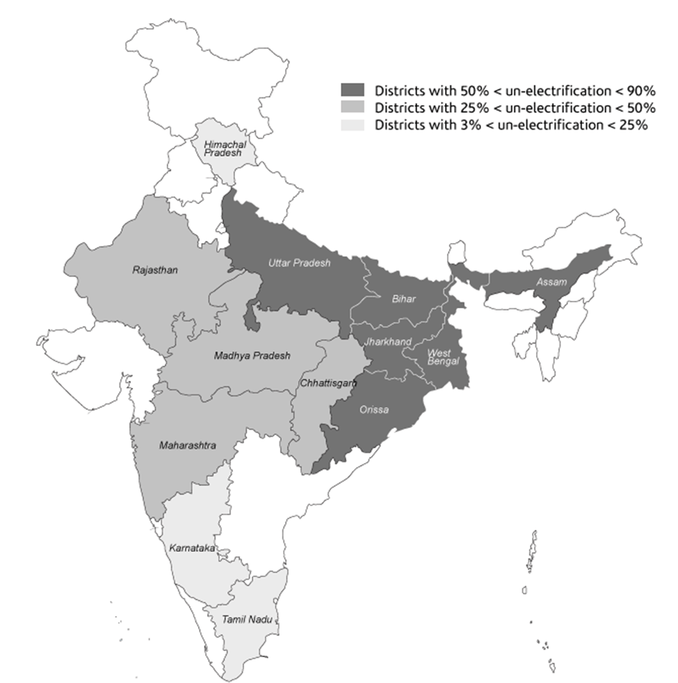 Map of Saubhagya Scheme for Household Electrification