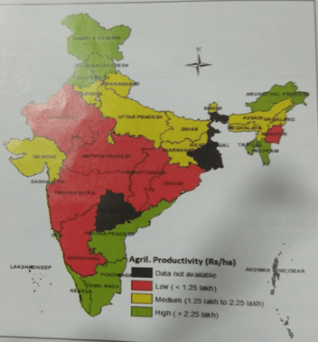 Map of agricultural productivity