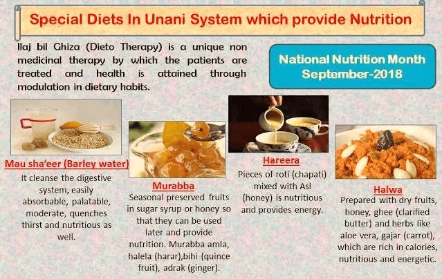 Special Diets in Unani System Which Provide Nutrition
