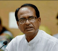 Image shows the chief minister Shivraj Singh Chouhan