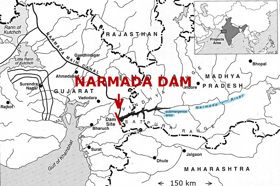 Map of Narmada Dam (Now Dedicated to the Nation)