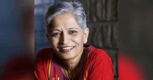Image of Kannada journalist Gauri Lankesh