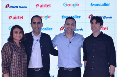 Truecaller ties up with Bharti Airtel,ICICI Bank&Google
