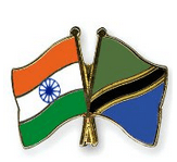 Image shows the flage of India and Tanzania