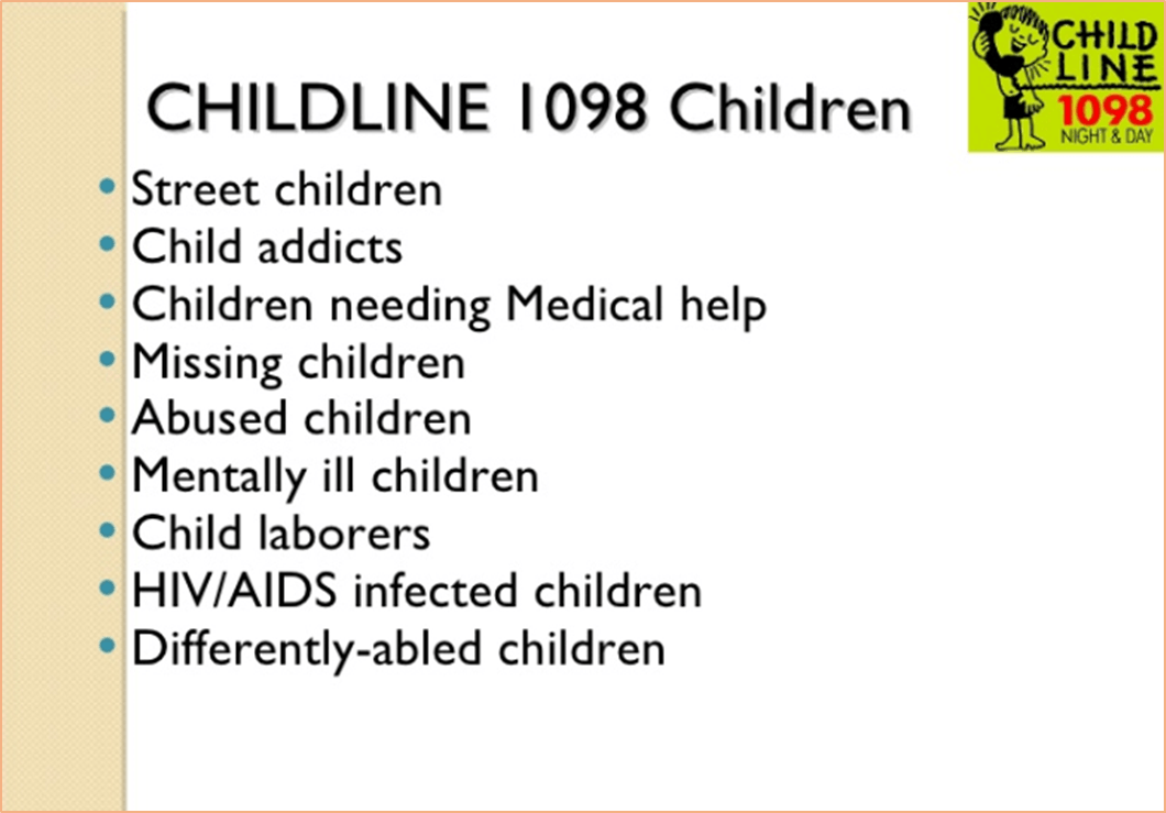 Image of Childline 1098 Children