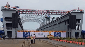 India's first indigenously build L&T Yard 55000 Launched