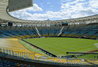 Image shows the Maracana Stadium