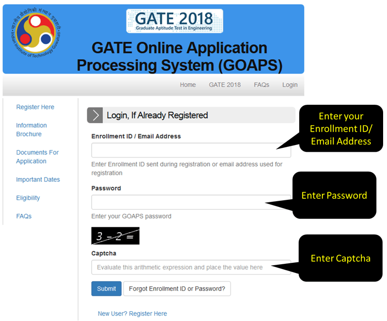 This is GATE Online Application Processing System