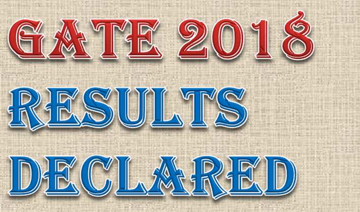 GATE 2018 Results Declared