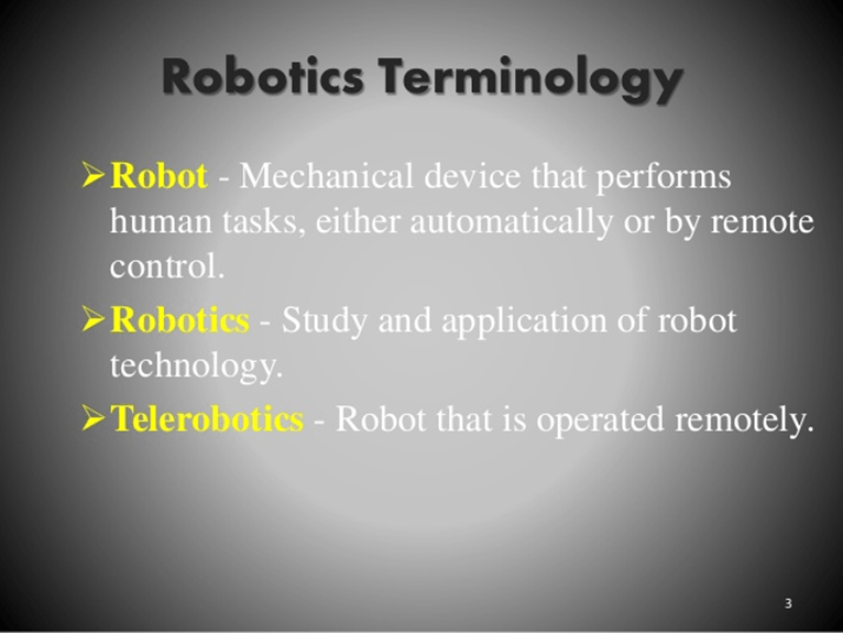 Image of Robotics terminology