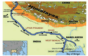 Image result for course of the river ganga