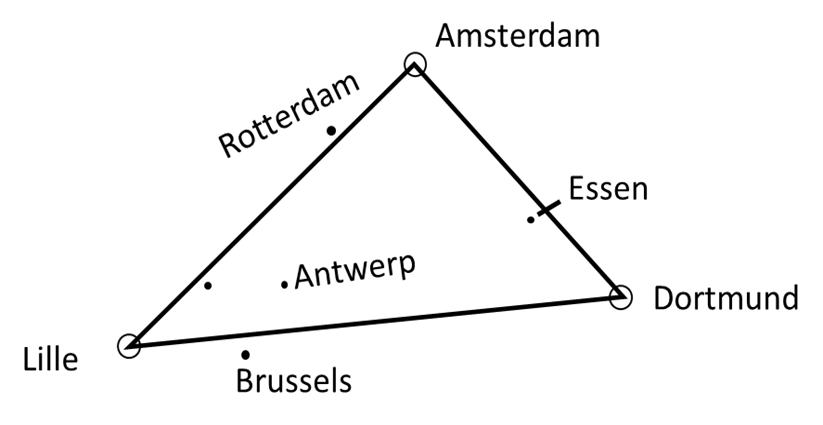 map of western triangular area
