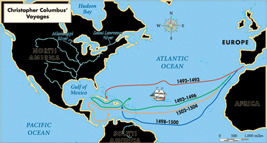 Christopher Columbus's Voyages, North America , Hudson Bay, …