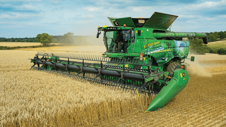 Image of harvester and thresher