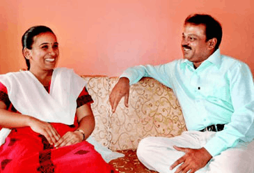 First IAS lady officer from pune Rashmi Zagade with her housband Siddharth Zagade